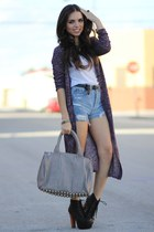 silver studded Mimi Boutique bag - black litas Jeffrey Campbell shoes