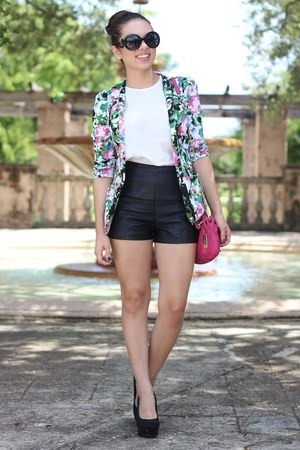 white beginning boutique blazer - hot pink remi and emmy bag