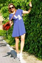 Primark dress - Prada sunglasses - Converse sneakers