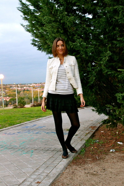 Zara jacket - Promod skirt - Pretty Ballerinas flats