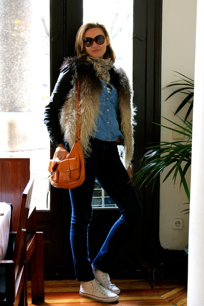 J Brand jeans - sita murt jacket - Mango shirt - Massimo Dutti scarf