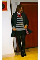Massimo Dutti skirt - Zara skirt - Geox boots - H&M coat - Timberland sweater
