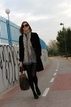 phard coat - c&a sweater - Louis Vuitton bag - Zara shorts - Prada sunglasses