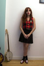Brick-red-trashy-vintage-vest-black-skirt-brick-red-bass-rachel-antonoff-lo