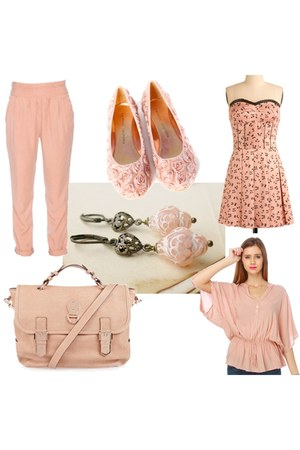 modcloth dress - Mulberry bag - Etsy shop earrings - wilfred pants - Ruche flats