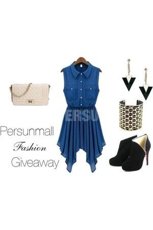 PERSUNMALL boots - PERSUNMALL dress - PERSUNMALL bag - PERSUNMALL bracelet