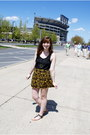 Black-cotton-brandymelvilleusa-shirt-mustard-tribal-print-forever-21-skirt