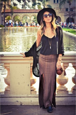 free people skirt - foreign exchange hat - brandy melville top