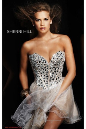 white Sherri Hill dress
