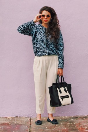 sweater - Prada shoes - Celine bag