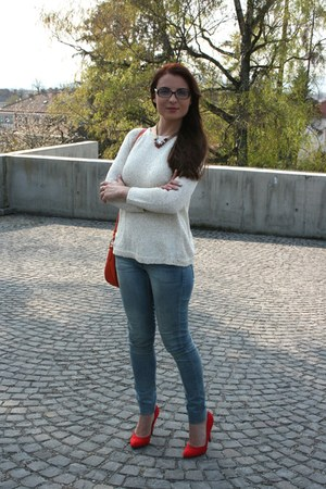 H&M jeans - Nine West bag - Zara blouse - Forever 21 heels
