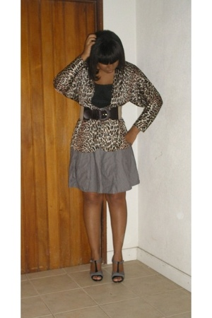 blouse - Express skirt - belt - Old Navy shoes
