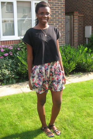 Primark top - Topshop skirt - H&M shoes