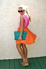 Carrot-orange-color-block-forever21-dress