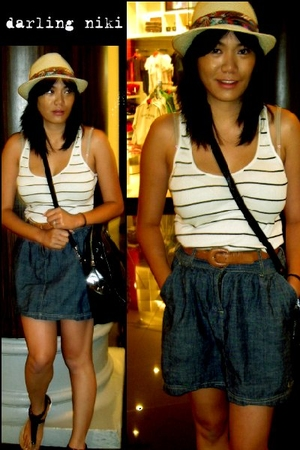 I Love Ronson top - Lilo skirt - Miu Miu purse - Target shoes - Target hat - vin