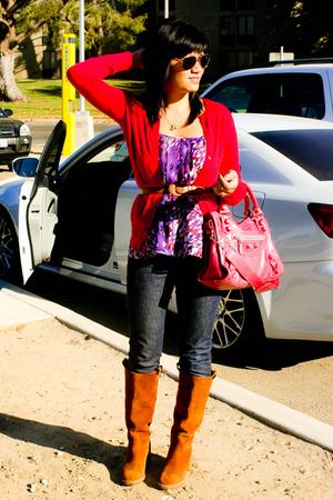 merona sweater - Ali Ro blouse - balenciaga purse - Miss Sixty jeans - Marc Jaco