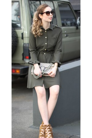 olive green Rinascimento dress