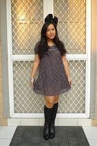 thrifted dress - Ebay socks - Soule Phenomenon blouse - Forever 21 accessories