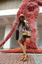 H&M dress - Renegade Folk shoes - trifted bag - Salcedo Market hat