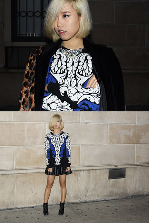 beau coops boots - leopard A Concern coat - pleather Pixie Market skirt