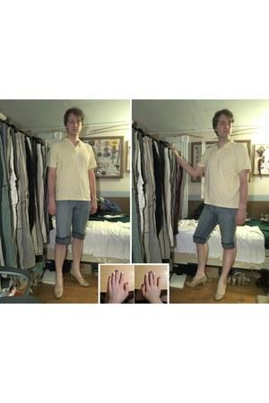 cream covington shirt - blue Mossimo jeans - beige Mossimo heels