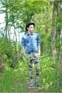 Denim-department-5-shirt-floral-print-department-5-pants