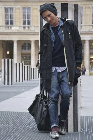 balenciaga bag - studded giacomorelli loafers