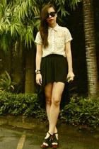 Forever 21 top - Forever 21 skirt - online heels