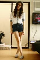 Forever 21 shorts - Stylebreak blouse - Dorothy Perkins flats