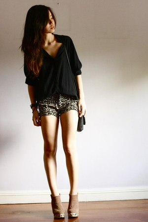 bought online shorts - bought online blouse - bought online wedges