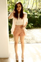cotton on blazer - SM Dept Store shirt - Forever 21 shorts