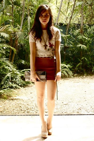 sm department store shirt - H&M skirt - My trusty Forever 21 heels