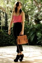 cotton on dress - cotton on bag - Asian Vogue heels - vintage pants