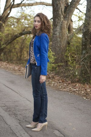 dark skinnies guess by marciano jeans - cobalt Forever21 blazer