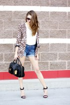 leopard Ellison via Selah blazer - leather satchel Ralph Lauren bag