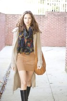 simply vera cardigan - calvin klein boots - Alfred Sung dress - TJ Maxx scarf