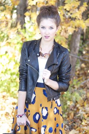 leather Michael Kors bag - faux leather TJ Maxx jacket - suede TJ Maxx heels