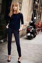 jeans - blouse - heels