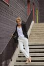Black-classic-blazer-zara-blazer-white-trousers-persunmall-panties