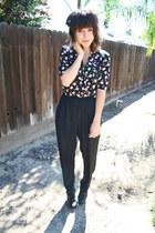black floral Karin Stevens jumper