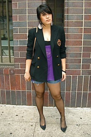 Ralph Lauren blazer - shredded top - a&f shorts - cbanner shoes