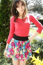 Charlotte Russe top - Urban Outfitters bracelet - skirt - GoJane boots