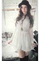 light pink comfy Handmedown blazer - white polkadotted Online Shop dress