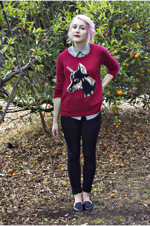 brick red Jay Jays jumper - black Windsor Smith shoes - black Cheap Monday jeans