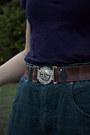 Navy-thrifted-scarf-navy-dangerfield-top-dark-brown-thrifted-belt