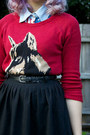 Light-blue-shirt-red-jay-jays-sweater-black-supre-belt