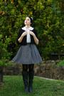 Rubi-shoes-boots-thrifted-shirt-supre-belt-thrifted-skirt