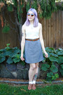 Heart-urban-outfitters-sunglasses-houndstooth-thrifted-skirt-thrifted-belt