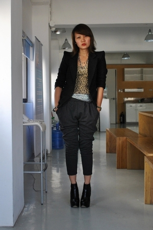 black The Ramp blazer - gray Dark White - black Topshop shoes -