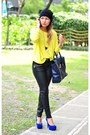 Black-waxed-jeans-navy-pashli-phillip-lim-bag-yellow-neon-top